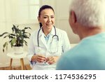giving medical instructions.... | Shutterstock . vector #1174536295