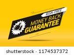 money back guarantee label | Shutterstock .eps vector #1174537372