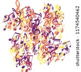 musical symbols. abstract...   Shutterstock .eps vector #1174540462