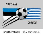 flags of estonia and greece   ... | Shutterstock .eps vector #1174543018