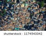 rocinha favela in rio   Shutterstock . vector #1174543342
