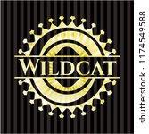 wildcat golden badge | Shutterstock .eps vector #1174549588