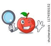 detective nectarines cartoon... | Shutterstock .eps vector #1174550152