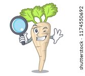 detective parsnip isolated on... | Shutterstock .eps vector #1174550692