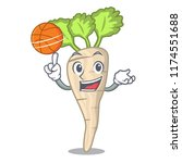 with basketball character... | Shutterstock .eps vector #1174551688