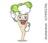 chef parsnip isolated on the... | Shutterstock .eps vector #1174551742