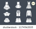 a set of icons. clothes for...   Shutterstock .eps vector #1174562035