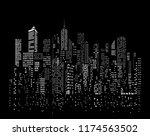 modern city skyline  city... | Shutterstock .eps vector #1174563502