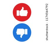 thumb up symbol  finger up icon ... | Shutterstock .eps vector #1174564792