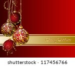 red christmas card with... | Shutterstock .eps vector #117456766
