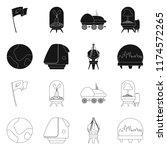 vector illustration of mars and ... | Shutterstock .eps vector #1174572265