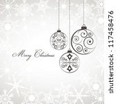 christmas elegant card with... | Shutterstock .eps vector #117458476