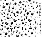 Seamless Pattern With Traces O...