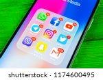 sankt petersburg  russia ... | Shutterstock . vector #1174600495
