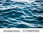 Detail Of Wavy Deep Sea Water...