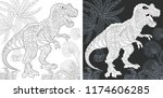 coloring page. coloring book.... | Shutterstock .eps vector #1174606285
