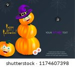 halloween holiday design...   Shutterstock .eps vector #1174607398