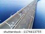 aerial view of highway in the... | Shutterstock . vector #1174613755