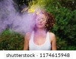 lovely caucasian model with... | Shutterstock . vector #1174615948