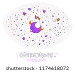 fantastic planets in...   Shutterstock .eps vector #1174618072