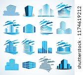 city buildings business... | Shutterstock .eps vector #1174619212
