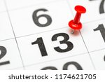 pin on the date number 13. the... | Shutterstock . vector #1174621705