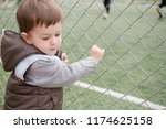a boy 1 5 years old at the edge ... | Shutterstock . vector #1174625158