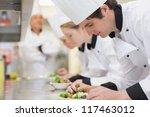 culinary class in kitchen... | Shutterstock . vector #117463012