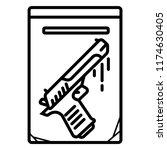 gun  gun icon  a revolver.... | Shutterstock .eps vector #1174630405
