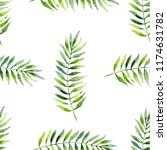 watercolor leaves  seamless... | Shutterstock . vector #1174631782