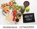 healthy food for heart....   Shutterstock . vector #1174632055