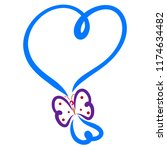 Blue Balloon Of Hearts With...