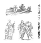 greek goddess illustration | Shutterstock . vector #117463816