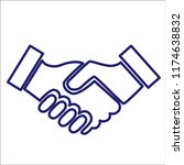 handshake vector icon...