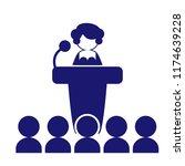 public speaking icon vector... | Shutterstock .eps vector #1174639228