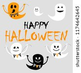 happy halloween. cute ghost... | Shutterstock .eps vector #1174642645