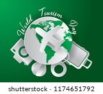 world tourism day tourism day... | Shutterstock .eps vector #1174651792