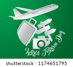 world tourism day tourism day... | Shutterstock .eps vector #1174651795