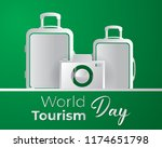 world tourism day tourism day... | Shutterstock .eps vector #1174651798