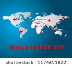world tourism day tourism day... | Shutterstock .eps vector #1174651822
