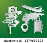 world tourism day tourism day... | Shutterstock .eps vector #1174651828