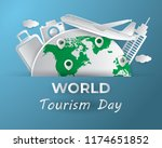 world tourism day tourism day... | Shutterstock .eps vector #1174651852