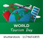 paper world tourism day tourism ... | Shutterstock .eps vector #1174651855