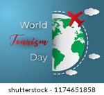paper world tourism day tourism ... | Shutterstock .eps vector #1174651858