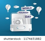 world tourism day tourism day... | Shutterstock .eps vector #1174651882