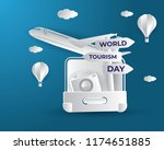 world tourism day tourism day... | Shutterstock .eps vector #1174651885