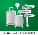 world tourism day tourism day... | Shutterstock .eps vector #1174651888