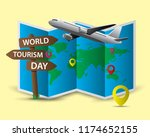 world tourism day tourism day... | Shutterstock .eps vector #1174652155