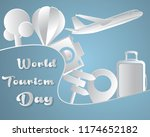world tourism day tourism day... | Shutterstock .eps vector #1174652182