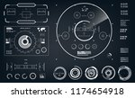 futuristic black and white hud  ... | Shutterstock .eps vector #1174654918